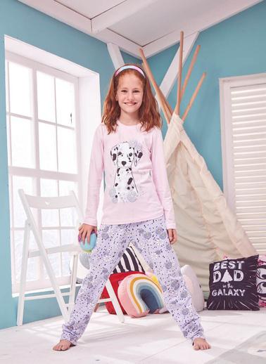 Donella Dalmaçyalı Köpek Baskılı Kız Çocuk Pijama Pembe